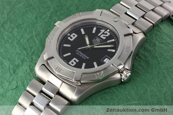Used luxury watch Tag Heuer Professional steel quartz Ref. WN1110  | 141130 01