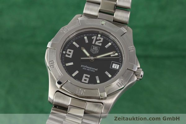 Used luxury watch Tag Heuer Professional steel quartz Ref. WN1110  | 141130 04