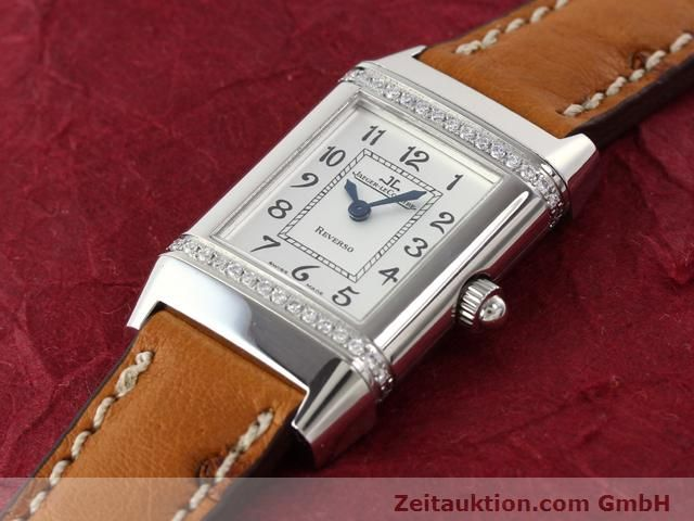 Used luxury watch Jaeger Le Coultre Reverso steel quartz Kal. 608 Ref. 265.8.08  | 141140 01