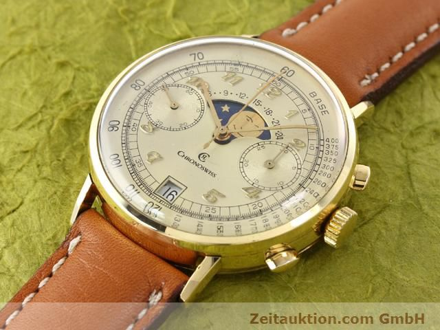 Used luxury watch Chronoswiss Lunar 18 ct gold manual winding Kal. Valj. 7734  | 141142 01