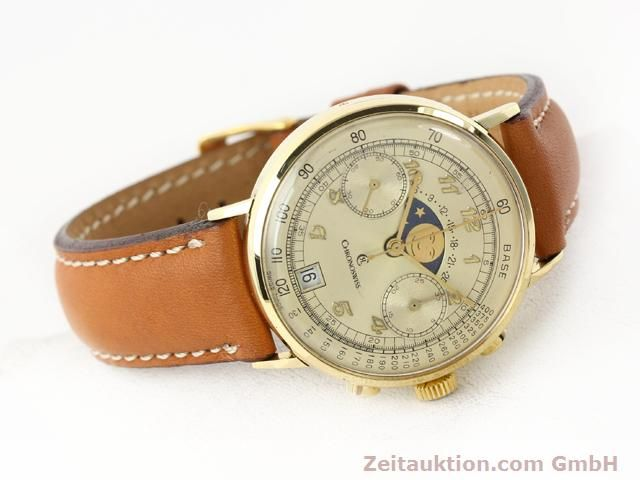 Used luxury watch Chronoswiss Lunar 18 ct gold manual winding Kal. Valj. 7734  | 141142 03