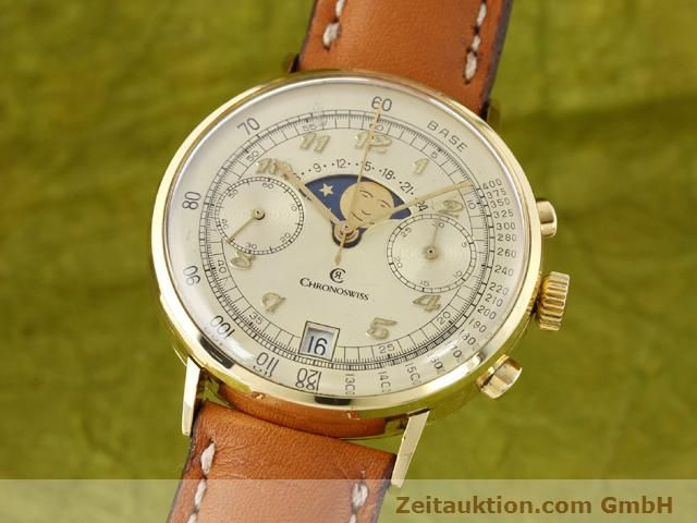 Used luxury watch Chronoswiss Lunar 18 ct gold manual winding Kal. Valj. 7734  | 141142 04