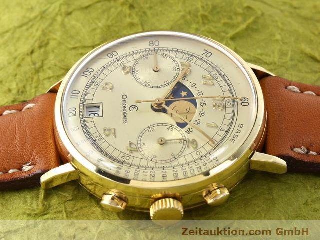 Used luxury watch Chronoswiss Lunar 18 ct gold manual winding Kal. Valj. 7734  | 141142 05