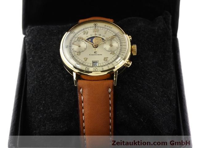 Used luxury watch Chronoswiss Lunar 18 ct gold manual winding Kal. Valj. 7734  | 141142 07
