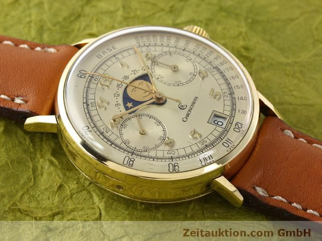 Used luxury watch Chronoswiss Lunar 18 ct gold manual winding Kal. Valj. 7734  | 141142 12