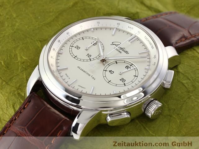 Used luxury watch Glashütte Senator steel automatic Kal. 39  | 141143 01