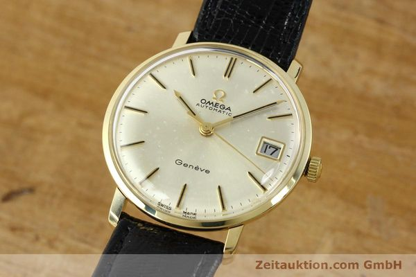montre de luxe d occasion Omega * or jaunen 14 ct automatique Kal. 565 Ref. 162037  | 141147 04