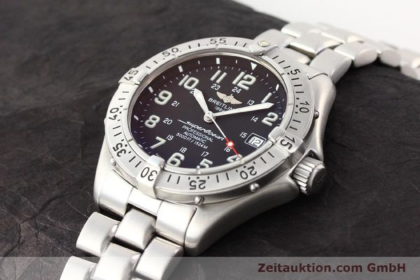 Used luxury watch Breitling Superocean steel automatic Kal. ETA 2824-2 Ref. A17345  | 141158 01