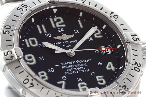 Used luxury watch Breitling Superocean steel automatic Kal. ETA 2824-2 Ref. A17345  | 141158 02