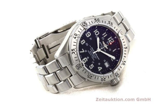 Used luxury watch Breitling Superocean steel automatic Kal. ETA 2824-2 Ref. A17345  | 141158 03