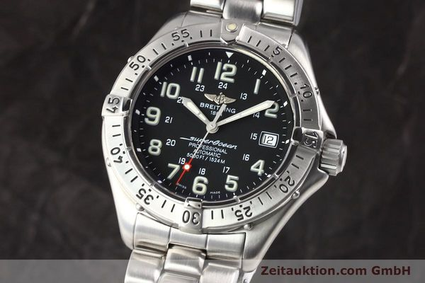 Used luxury watch Breitling Superocean steel automatic Kal. ETA 2824-2 Ref. A17345  | 141158 04