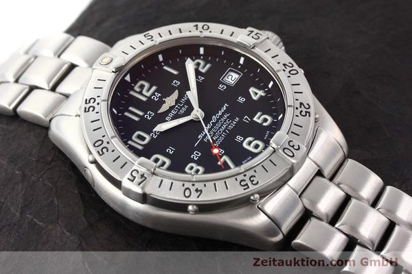Used luxury watch Breitling Superocean steel automatic Kal. ETA 2824-2 Ref. A17345  | 141158 15