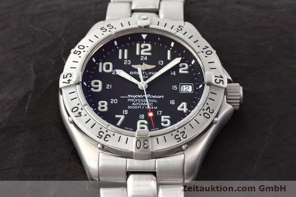 Used luxury watch Breitling Superocean steel automatic Kal. ETA 2824-2 Ref. A17345  | 141158 16