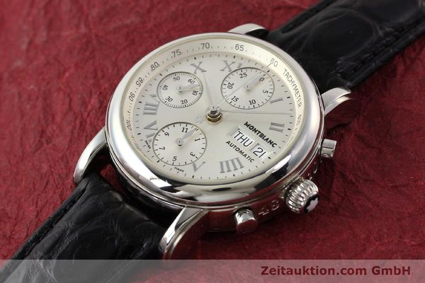 Used luxury watch Montblanc Meisterstück steel automatic Kal. 4810501 ETA 7750 Ref. 7016  | 141159 01