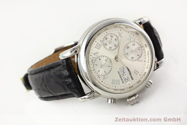 Used luxury watch Montblanc Meisterstück steel automatic Kal. 4810501 ETA 7750 Ref. 7016  | 141159 03