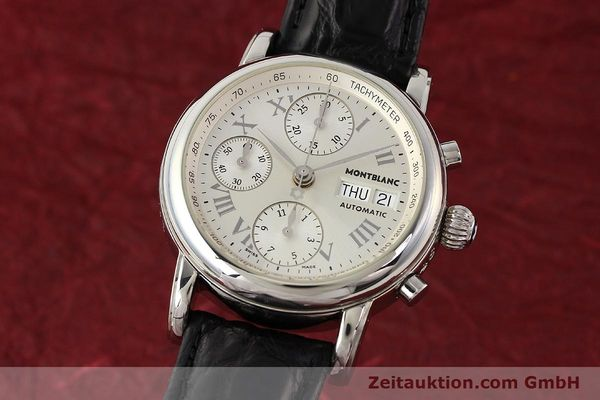 Used luxury watch Montblanc Meisterstück steel automatic Kal. 4810501 ETA 7750 Ref. 7016  | 141159 04