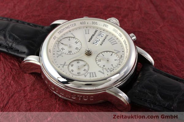 Used luxury watch Montblanc Meisterstück steel automatic Kal. 4810501 ETA 7750 Ref. 7016  | 141159 12