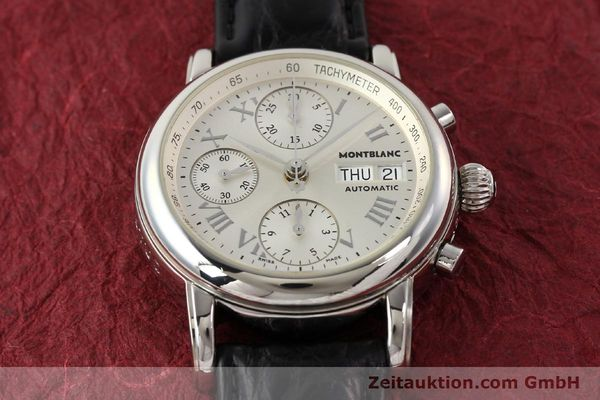 Used luxury watch Montblanc Meisterstück steel automatic Kal. 4810501 ETA 7750 Ref. 7016  | 141159 13