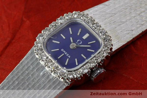 Used luxury watch Omega * 18 ct white gold manual winding Kal. 650 Ref. 93522  | 141161 01
