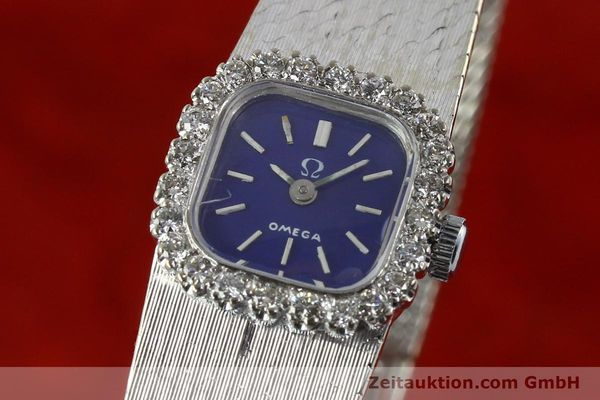 Used luxury watch Omega * 18 ct white gold manual winding Kal. 650 Ref. 93522  | 141161 04