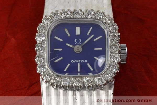 Used luxury watch Omega * 18 ct white gold manual winding Kal. 650 Ref. 93522  | 141161 16