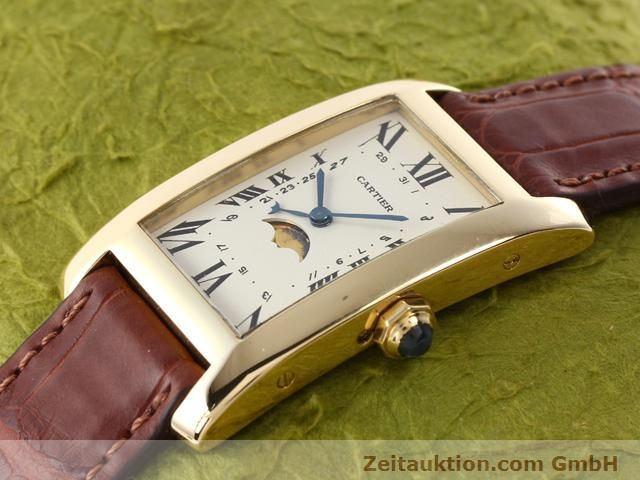 Used luxury watch Cartier Tank 18 ct gold quartz Kal. 19 (619)  | 141167 01
