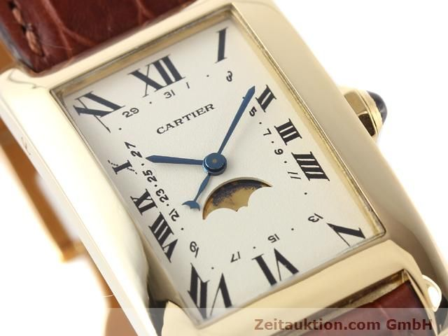 Used luxury watch Cartier Tank 18 ct gold quartz Kal. 19 (619)  | 141167 02