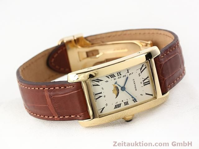Used luxury watch Cartier Tank 18 ct gold quartz Kal. 19 (619)  | 141167 03
