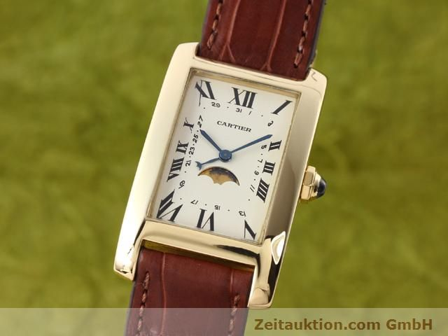 Used luxury watch Cartier Tank 18 ct gold quartz Kal. 19 (619)  | 141167 04