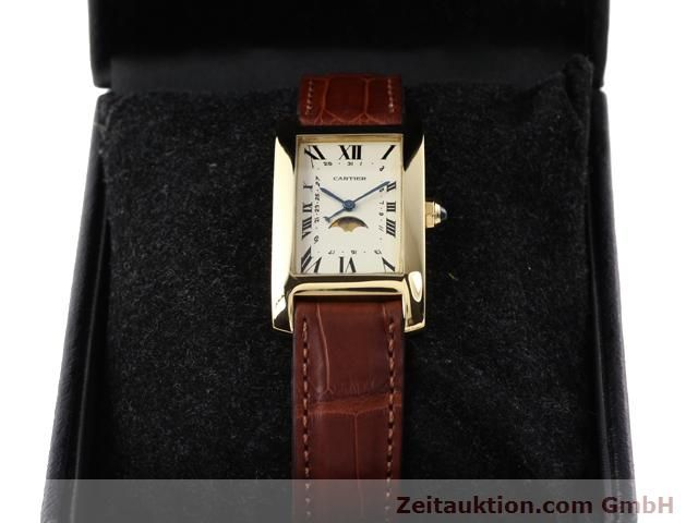 Used luxury watch Cartier Tank 18 ct gold quartz Kal. 19 (619)  | 141167 07