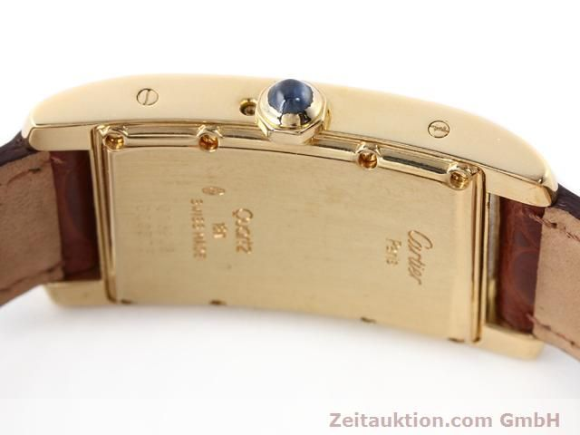 Used luxury watch Cartier Tank 18 ct gold quartz Kal. 19 (619)  | 141167 08
