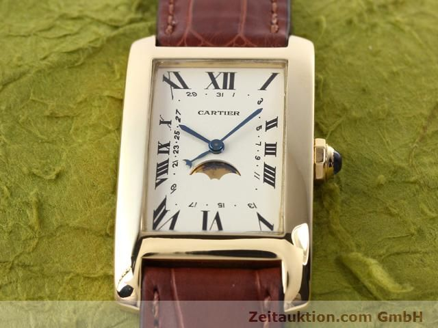 Used luxury watch Cartier Tank 18 ct gold quartz Kal. 19 (619)  | 141167 14