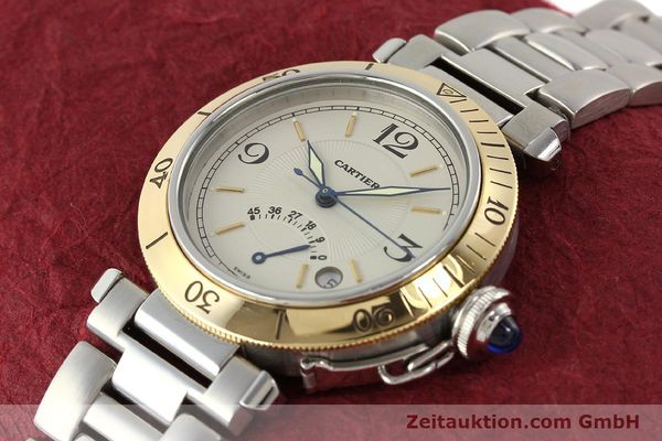 Used luxury watch Cartier Pasha steel / gold automatic Kal. 050 ETA 2892A2  | 141168 01
