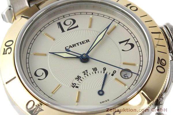 Used luxury watch Cartier Pasha steel / gold automatic Kal. 050 ETA 2892A2  | 141168 02