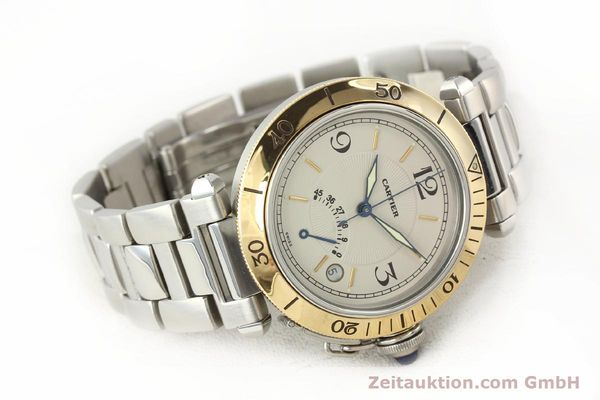 Used luxury watch Cartier Pasha steel / gold automatic Kal. 050 ETA 2892A2  | 141168 03