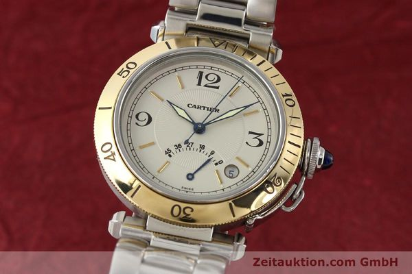 Used luxury watch Cartier Pasha steel / gold automatic Kal. 050 ETA 2892A2  | 141168 04