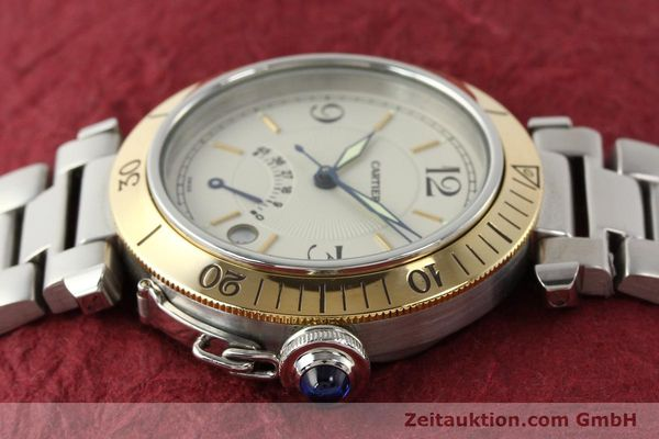 Used luxury watch Cartier Pasha steel / gold automatic Kal. 050 ETA 2892A2  | 141168 05