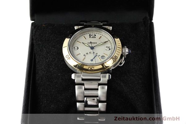 Used luxury watch Cartier Pasha steel / gold automatic Kal. 050 ETA 2892A2  | 141168 07