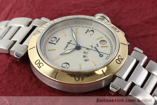 Used luxury watch Cartier Pasha steel / gold automatic Kal. 050 ETA 2892A2  | 141168 14