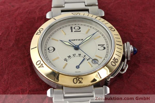 Used luxury watch Cartier Pasha steel / gold automatic Kal. 050 ETA 2892A2  | 141168 15