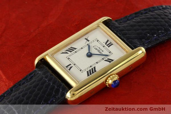 Used luxury watch Cartier Tank silver-gilt quartz  | 141181 01