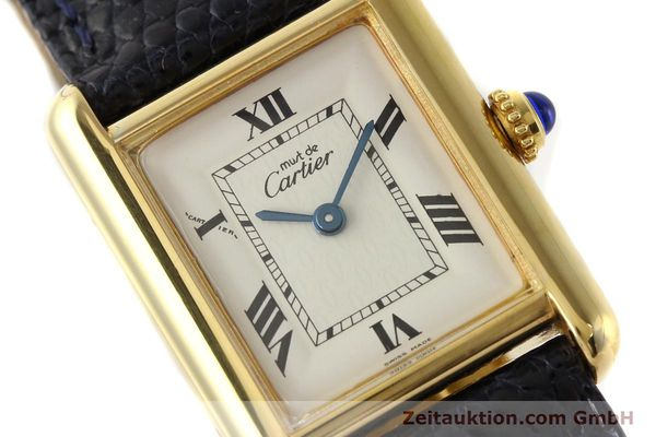Used luxury watch Cartier Tank silver-gilt quartz  | 141181 02