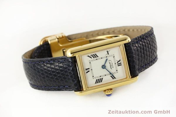 Used luxury watch Cartier Tank silver-gilt quartz  | 141181 03