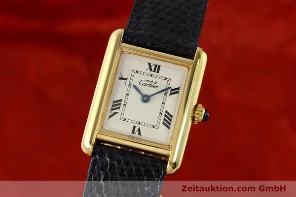 Used luxury watch Cartier Tank silver-gilt quartz  | 141181 04