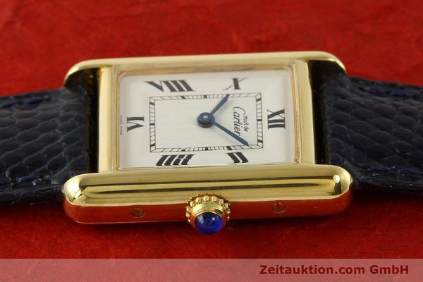 Used luxury watch Cartier Tank silver-gilt quartz  | 141181 05