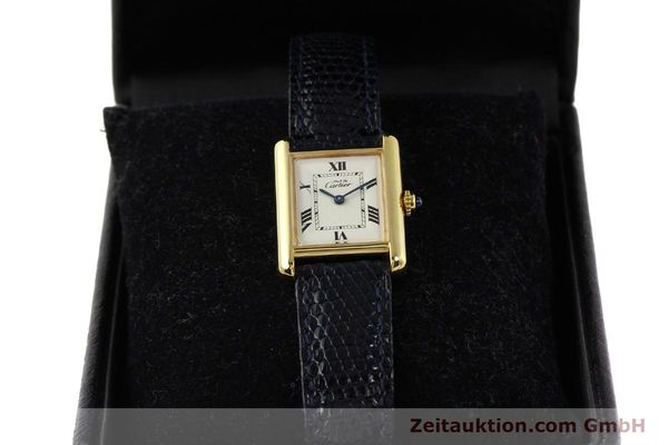 Used luxury watch Cartier Tank silver-gilt quartz  | 141181 07