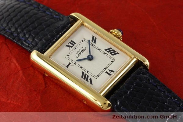 Used luxury watch Cartier Tank silver-gilt quartz  | 141181 13