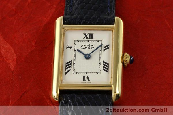 Used luxury watch Cartier Tank silver-gilt quartz  | 141181 14