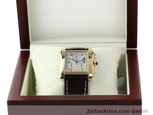 Used luxury watch Cartier Tank chronograph 18 ct gold quartz Kal. 212P VINTAGE  | 141187 07