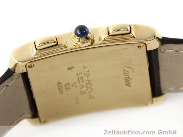Used luxury watch Cartier Tank chronograph 18 ct gold quartz Kal. 212P VINTAGE  | 141187 08